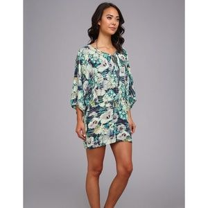 Nanette Lepore Hula Hibiscus Floral-Print Coverup